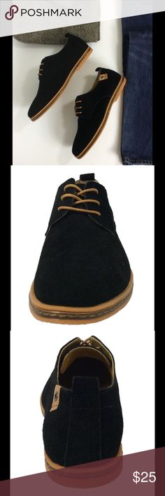 Men's Black Suede Leather Oxford Lace Up Shoes Product Description   The SoFitly Oxford is made with suede upper. The Cushioned insole and Flexible rubber outsole of the SoFitly shoe provide All-day comfort, support and ease of motion. Great Fit, Comfort, Style and Price in 7 colors to match any occasion.   Product Features  * Suede Leather Uppers * Rubber Sole * Custom U.S. Design  * Cushioned Insole for Extra Comfort * Flexible Rubber Outsole * Heel Measures approximately .75 inches…