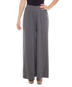Look what I found on #zulily! Charcoal Solid Palazzo Pants by Coveted Clothing #zulilyfinds