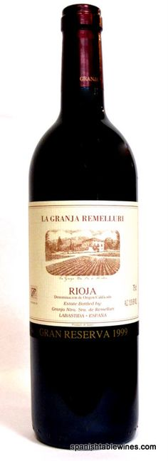 This Week's Deal: 1999 Remelluri Gran Reserva Rioja; Robert Parker 96 pts - $79.95  This monumental wine is a testament to what can be achieved in Rioja. Made up of a blend of 86% Tempranillo, 12% Garnacha, and 2% Graciano, it was fermented with native yeasts and aged for 27 months in French and American oak. Beautifully expressive aromatically, it gives up exotic spices, lavender, incense, a hint of balsamic, black cherry, and blackberry.