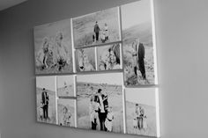 7 canvas photo arrangements The pinwheel picture arrangement, should be about 60 in. above the floor (eye level)