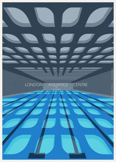 andre chiote illustrates famous architectural sport icons