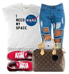 """"""""""" by trendingxtopic ❤ liked on Polyvore featuring Nixon, Vans, Louis Vuitton and Fremada"""