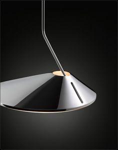 Nón Lá | Bover | Lámpara de suspensión | Metal en cromo, blanco o cobre | Led integrado