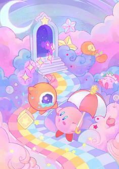 cute kirby aesthetic kirby All credits go to who ever first uploaded this pic Pokemon, Kirby Character, Meta Knight, Videogames, Link Art, Kawaii Wallpaper, Pastel Art, Cute Characters, Cute Wallpapers