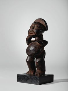 BAMILEKE-BATIE FIGURE, CAMEROON | African Art from the Collection of Sidney and Bernice Clyman | Sotheby's Purchase College, National Museum, African Art, Art Museum, Lion Sculpture, Auction, June 30, Condition Report, Statue