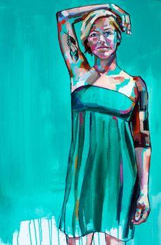 """Kelly"" by Sheila Dunn, 24""x36"", oil on canvas, 700 dollars"