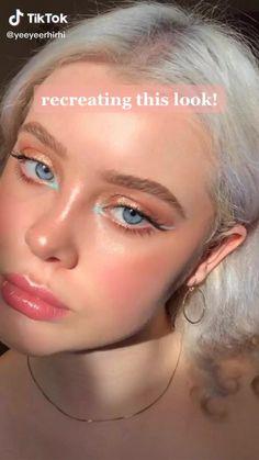 Edgy Makeup, Makeup Eye Looks, Cute Makeup, Pretty Makeup, Skin Makeup, Makeup Art, Maquillage On Fleek, Makeup Looks Tutorial, Makeup Makeover