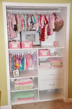 nursery closet organizer | Closet ideas for nursery | Someday when we have little Swensons
