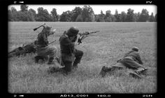 Rievocazione WW2 4 soldati tedeschi in posizioni. Fucile Mauser 4 german soldier  TERNAVASSO 2016 Normandie 44