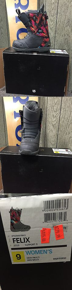 Boots 36292: Nib 2013 Womens Burton Boot Felix 9 Gray/Multi Color -> BUY IT NOW ONLY: $60 on eBay!