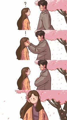 Love you is my happiness Cute Couple Comics, Couples Comics, Cute Couple Art, Cute Comics, Couple Illustration, Illustration Art, C Cassandra Comics, Sundae Kids, Lonely Girl
