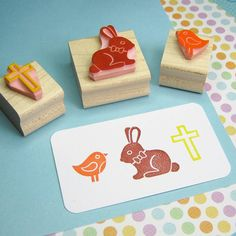 cute Easter stamps