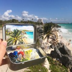 She Paints Tiny Masterpieces in her Empty Altoids Tins