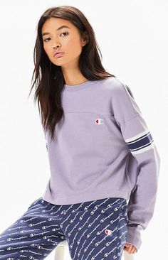 Champion Reverse Weave Long Sleeve T-Shirt Sporty Style, Pacsun, Adidas Jacket, Champion, Weave, Tank Tops, Long Sleeve, Sleeves, T Shirt