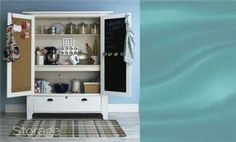 Kitchen Baking Cabinet... EASY STORAGE PROJECTS AROUND THE HOUSE, for every room!
