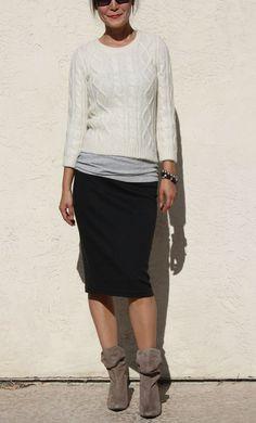 Everyday Pencil Skirt Black by artaffect on Etsy, $43.50