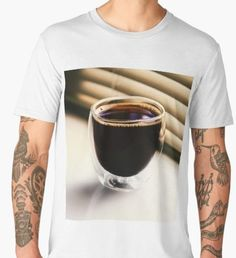 'Black Coffee image' Premium T-Shirt by Narkusdesign Coffee Images, Gifts For Your Boyfriend, Wash Bags, Black Coffee, Large Prints, Tshirt Colors, Looks Great, Gifts For Her, Fitness Models