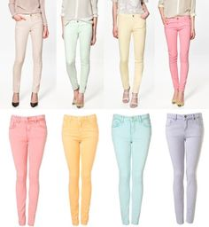Jeggings of different colours.. I want ALL!!!