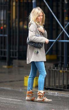 Sienna Miller wearing Vivienne Westwood Pirate Boots #celebrity #style