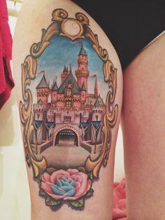 Sleeping Beauty's castle tattoo