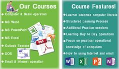 Learn Computer Basic Knowledge  How to use a computer? How to job hunt online? Increase Typing Speed Ms-word Ms-excel Ms-power point Advance Ms-Excel LIMITED SEATS AVAILABLE Contact Reena:- +91 9818734560 / 9212229400