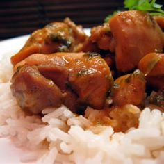 12/14/12 Trinidad Stewed Chicken Recipe - This was simple and good.  I probably used about 1 cup of coconut milk and forgot to put in the red pepper so it had a mild sweet flavor.