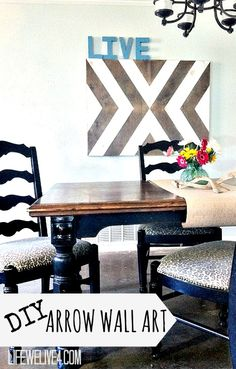 DIY Wooden Arrow Wall Art thats eclectic, chic, and cheap
