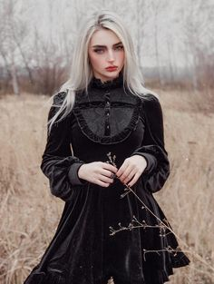 1 person standingYou can find Gothic dress and more on our person standing Gothic Outfits, Gothic Dress, Edgy Outfits, Mode Outfits, Witch Fashion, Dark Fashion, Gothic Fashion, Mode Emo, Goth Beauty
