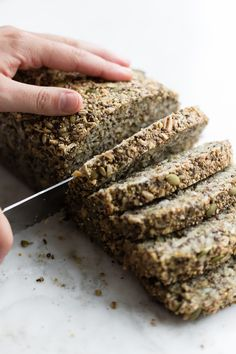 Ancient Grain, Seed, and Nut Loaf From The Greenhouse CookbookFor day one of our plant-based challenge, we're getting our meal in early. We're nibbling on this dense, dark loaf, first featured in The Greenhouse Cookbook, and inspired by the...