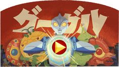 """Google doodle celebrates """"Eiji Tsuburaya's 114th Birthday"""" with #interactive toy that lets one create an Ultraman-like movie."""