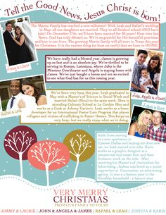 Family Christmas Letter  https://www.facebook.com/KJPaperie