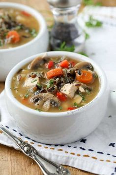 This flavorful Chicken Wild Rice Soup is hearty and delicious loaded with fresh vegetables, wild rice and chicken.