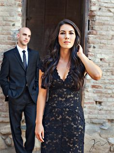 Like the idea of wearing black to your rehearsal dinner!