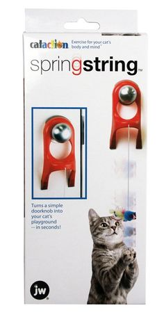 Description - Mouse with feathers - Attach to any door knob - Hours of fun - Bungee type cord Every cat and kitten enjoys swiping at this mouse and watching him fly. And he always comes back for more.