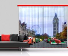 Disney cars kids window curtain.  New Collection By WallandMore!