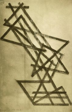 front. Aleksandr Rodchenko. Construction: Design for a lamp 1921 (right slide)
