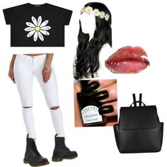Flower child by sunnymuffins96 on Polyvore featuring polyvore, fashion, style, Dr. Martens and John Lewis