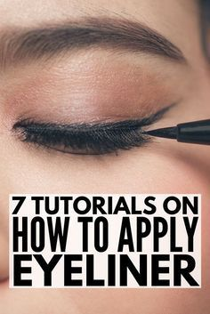 Whether you& trying to learn how to apply eyeliner properly to your top li. - - Whether you& trying to learn how to apply eyeliner properly to your top lid, bottom lash line, or . Eyeliner Hacks, Gel Eyeliner, How To Apply Eyeliner, Eyeliner Brands, Brown Eyeliner, Eyeliner Pencil, Applying Eyeliner, Brown Eyeshadow, Cream Eyeshadow
