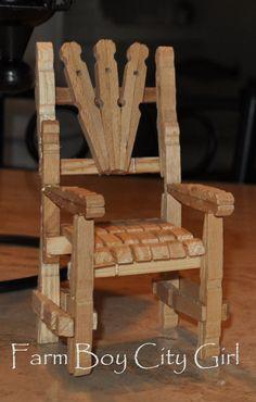 Resultado de imagen de clothespin furniture