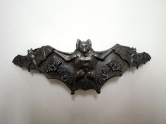 Vintage bat brooch