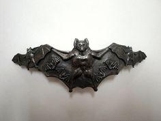 Vintage bat brooch