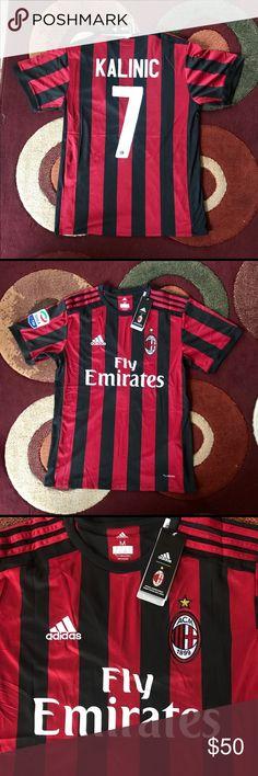 Kalinic #7 Ac Milan soccer jersey Brand new with tags , medium size , Ac milan seria A 17/18 soccer jersey . adidas Shirts Tees - Short Sleeve