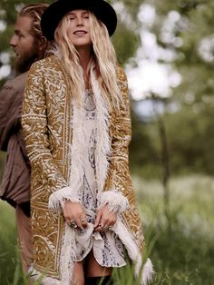 Free People North of Nordic Fur Trim Coat, $700.00 I want to move somewhere cold so i can have this and my friend ash face can hate it