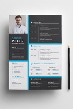 Sabbir Willams Resume Template - Resume Template Ideas of Resume Template - Sabbir Willams Resume Template Creative Cv Template, Creative Resume, Resume Design Template, Resume Templates, Conception Cv, Cv Inspiration, Free Resume Examples, Cv Design, Report Design