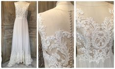Atelier Lyanna £1595 #atelierlyanna #lace #illusion #prelovedweddingdress #designerweddingdressagency #bridetobe #weddinginspo