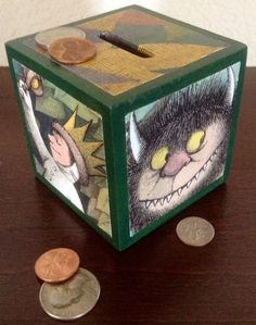 Where the Wild Things Are Coin piggy Bank by OllieBeez on Etsy, $12.95