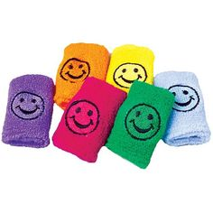 $6 per dozen...Smiley Face Stretchy Sweat Wrist Bands | Party Supply Store | Novelty Toys | Carnival Supplies | USToy.com