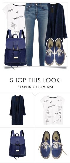 """""""School Style"""" by madeinmalaysia ❤ liked on Polyvore featuring MANGO, Vans and rag & bone"""
