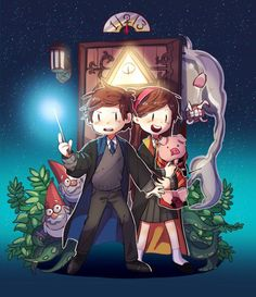 Imagine a Harry Potter and Gravity Falls crossover!! HOW AWESOME WOULD IT BE?!?