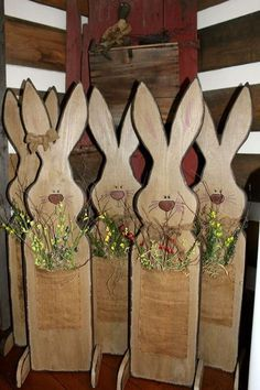 Pallet Easter Bunny Easter Pinterest Inspiration Eggs And